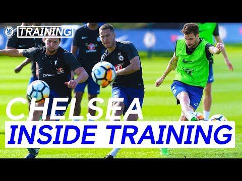 Hazard,Fabregas & Drinkwater Score Incredible Goals In Shooting Practice | Inside Training