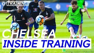 Hazard,Fabregas & Drinkwater Score Incredible Goals In Shooting Practice | Inside Training