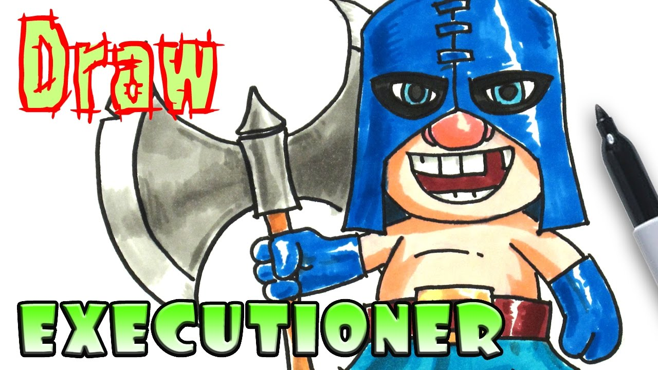 how to draw the executioner clash royale coloring pages - Clash Royale Coloring Pages