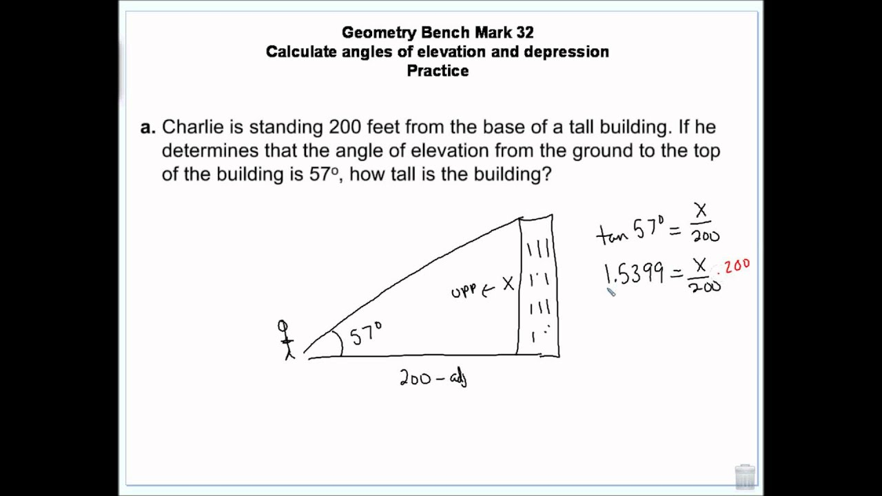Calculate Angles Of Elevation And Depression Using