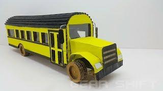 How to Make a School Bus - Cardboard School Bus wow amazing school bus made