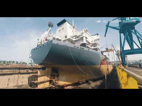 Ship Aerial drone video service drone ship inspections NORDI