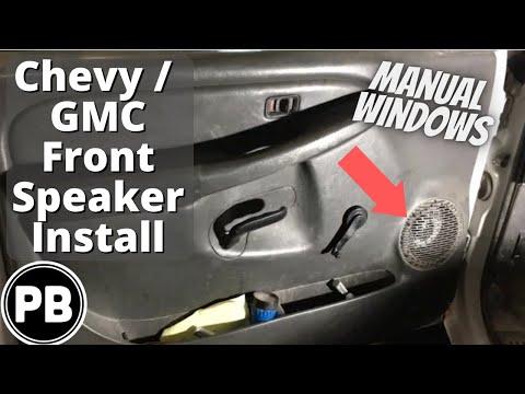 1999 - 2006 GMC / Chevy Front Speaker Install Sierra Silverado