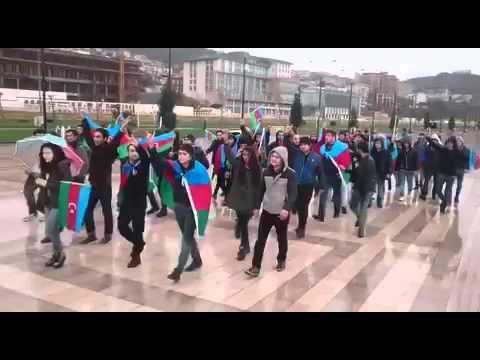 North Azerbaijan People demonstration in front of Iranian Embassy in Baku 10/11/2015