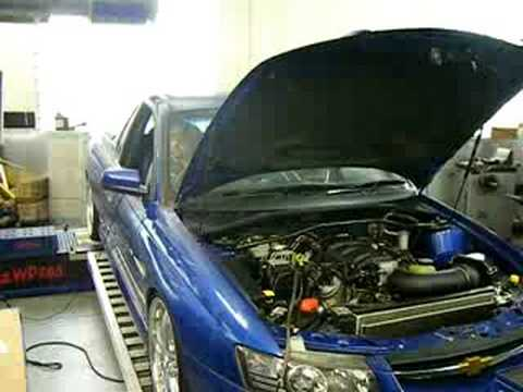 VZ SS UTE ON THE DYNO AFTER CAM