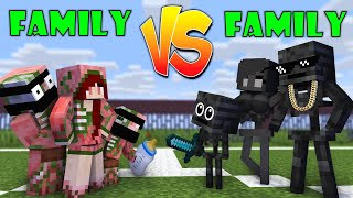 Monster School : FAMILY VS FAMILY - WHO IS THE STRONGEST MONSTERS - Minecraft Animation
