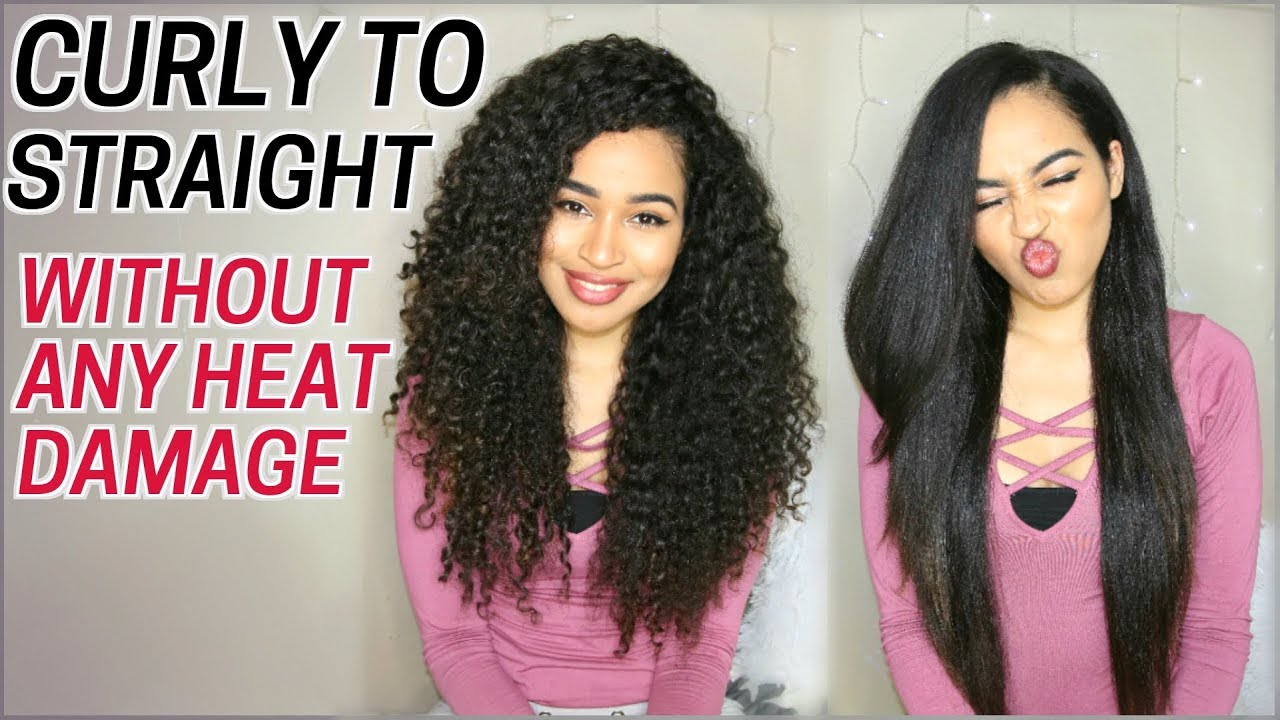 How I Straighten My Curly Hair Without Heat Damage