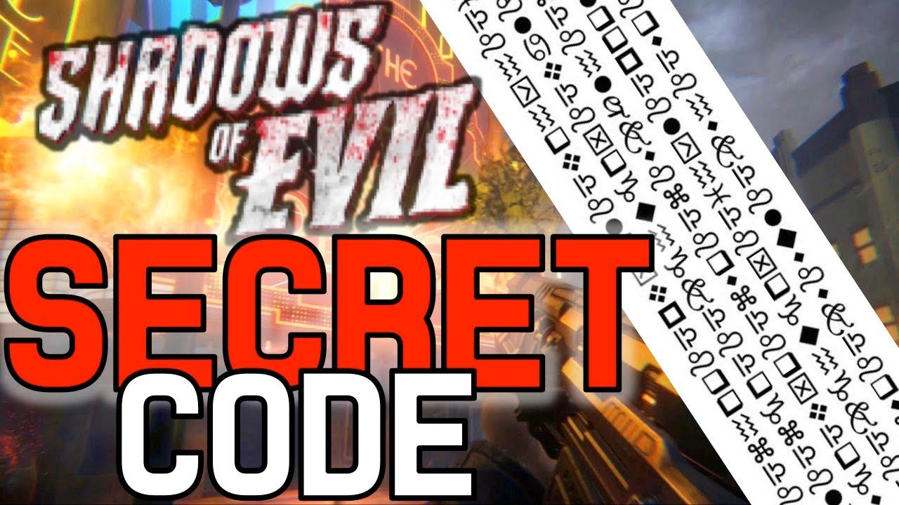Shadows of Evil SECRET CODE   Shadows of Evil Cipher in Boxer's Gym,  Shadows of Evil Easter Egg Hunt