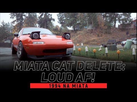 STRAIGHT-PIPING THE MIATA 1.8 | ISR RESONATED CAT DELETE