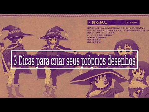 COMO DESENHAR MANGÁ APRENDA A CRIAR PERSONAGENS - 3 DICAS INDISPENSÁVEIS