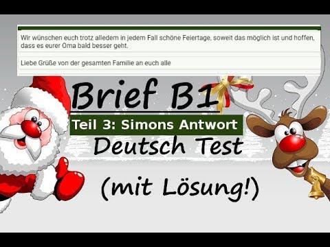 Brief Schreiben Deutsch B1 A2 Prüfung übung German Letter Writing