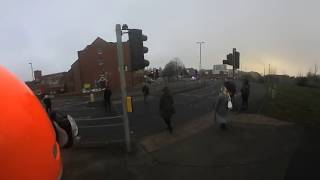 360 Camera Cycle Commute - Nottingham Train Station Fire Evacuation - (nothing to see)