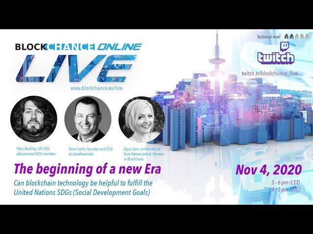 SDGs & Blockchain Technology - BLOCKCHANCE Online LIVE #2