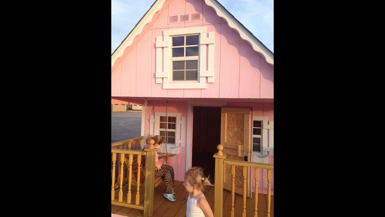 Kids playhouse made by kentucky barns look up close for Interior playhouse designs