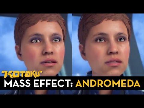 Los nuevos ojos de los personajes de Mass Effect: Andromeda