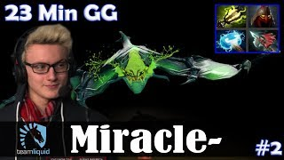 Miracle - Viper MID | 23 Min GG | Dota 2 Pro MMR Gameplay #2