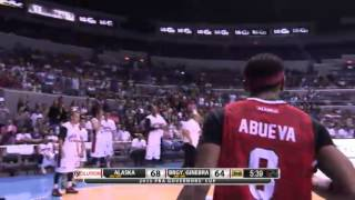 Calvin Abueva and Orlando Johnson Staredown (GOV CUP 2014-15)