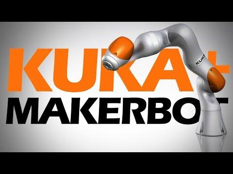 3D Printing Robot Parts with KUKA Robotics & MakerBot