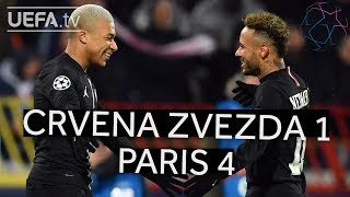 CRVENA ZVEZDA 1-4 PARIS #UCL HIGHLIGHTS
