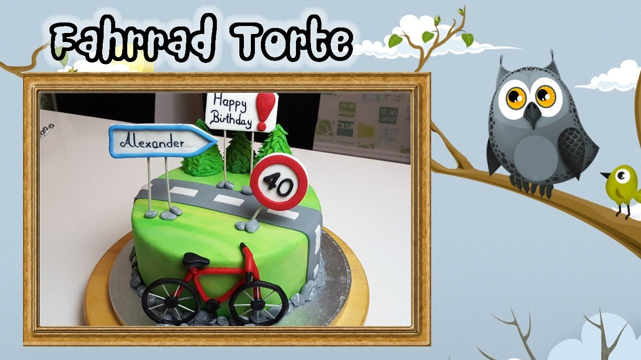 Fahrradtorte Geburtstagstorte Motivtorte Youtube