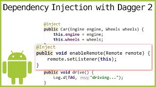 Dagger 2 Tutorial Part 4 - METHOD INJECTION - Android Studio Tutorial