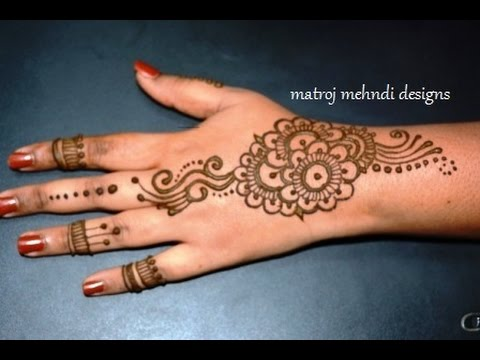 Easy Mehndi Tutorial : Beautiful and easy mehndi designs cheap with