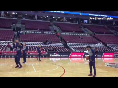 UConn players get some shots up at Value City Arena