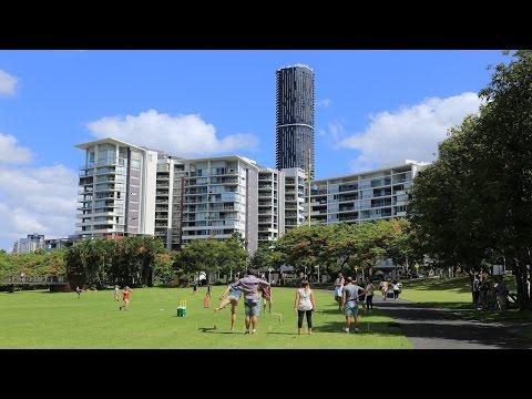 Брисбен - Австралия.  Прогулка по Рома Стрит Паркленд / Brisbane - Roma Street Parkland Australia