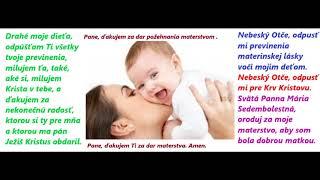 Materstvo Poďakovanie Pánovi Ježišovi Kristovi za materstvo