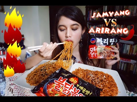ARIRANG VS SAMYANG FIRE NOODLE MUKBANG | Eating Show