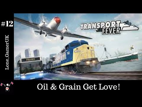 Transport Fever #12 Euro Map Let's Play - Oil & Grain Get Love!
