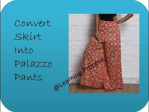 Reuse Recycle Skirt Into Palazzo In Just 10 Mins Learning