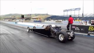 Jr comp mini dragster with Hayabusa motor running at Bandimere Speedway