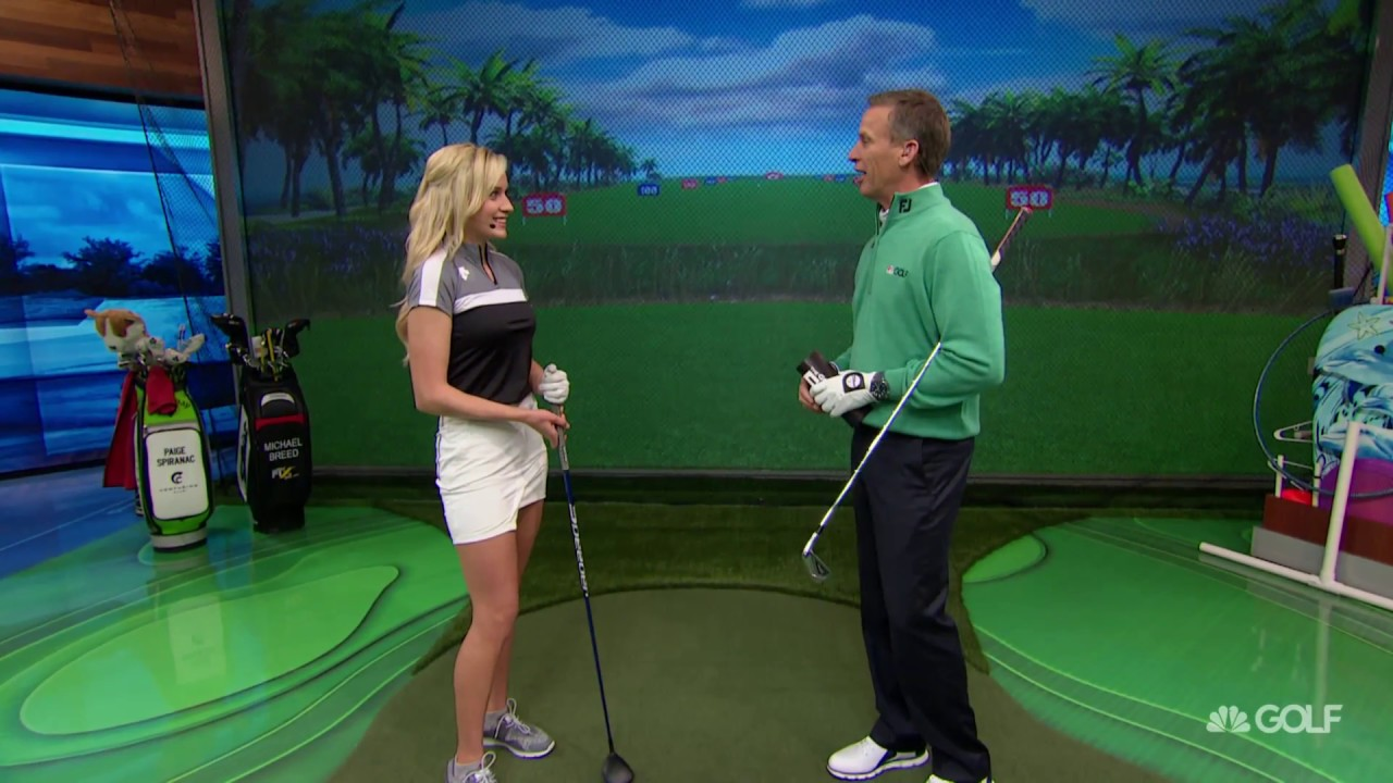 74fafd9ee9f The Golf Fix  Paige Spiranac Shows Us Her Go-To Shot   Routine ...