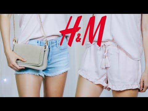 Покупки одежды H&M Лето 2017 | распаковка с примеркой | Базовый гардероб на лето