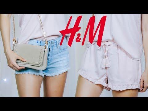 Покупки одежды H&M Лето 2017   распаковка с примеркой   Базовый гардероб на лето