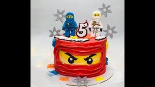 """оформление торта в стиле """" Лего Ниндзяго """""""