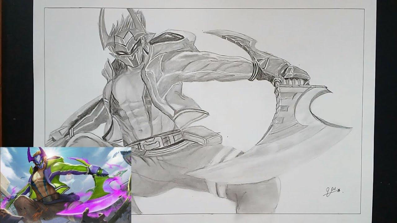 Vẽ nakroth – skin Bboy công nghệ liên quân mobile | Draw | Anh vũ art