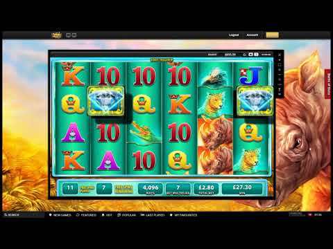 Online Slot Bonus Compilation - Raging Rhino, Fruit Warp and More