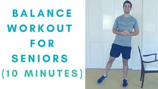 Balance exercises for seniors. improve your balance, get stronger and prevent falls. 10 minutes of easy to follow, seniors! ►► my *...