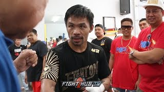 MANNY PACQUIAO ASKS JOE CORTEZ IF HE CAN USE
