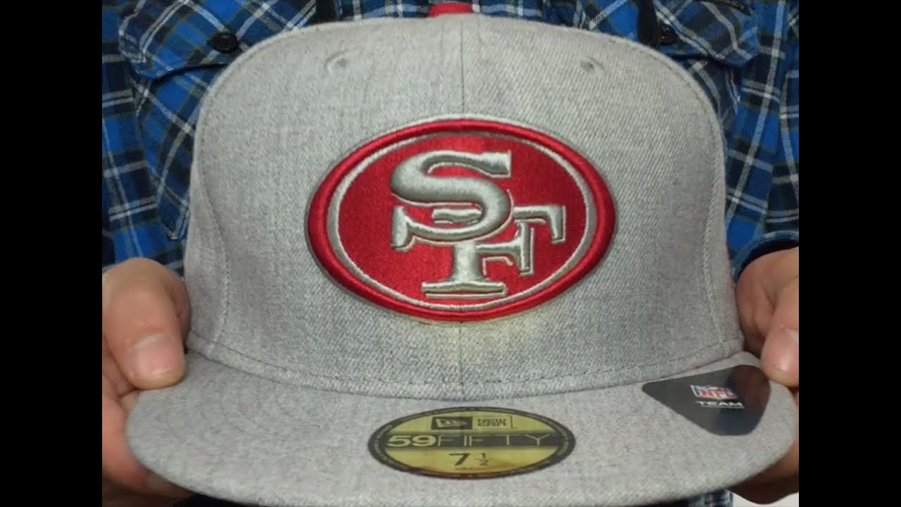 ec7fc99f047 ... official 49ers heather team basic light grey fitted hat by new era  4803e eaa16