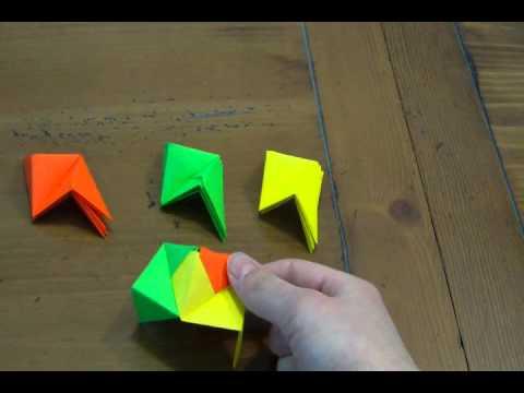 Modular Origami - balls and polyhedra folded by Michał Kosmulski | 360x480