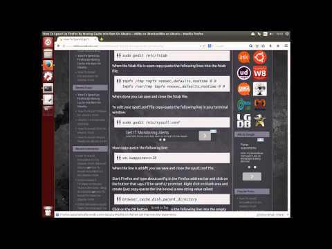 How To Speed Up Firefox By Moving Cache Into Ram On Ubuntu