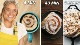 4-Min Vs. 40-Min Vs. 4 Hour Cinnamon Rolls • Tasty