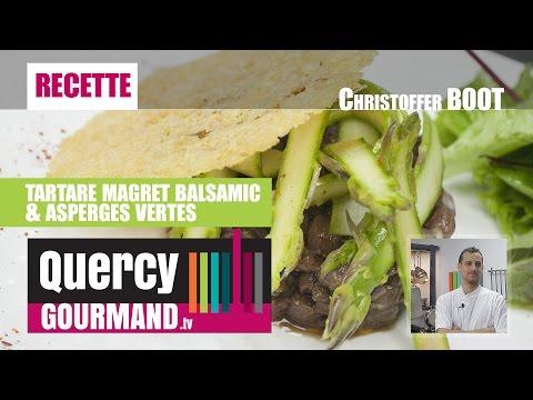 Recette : TARTARE de MAGRET & Asperges vertes – quercygourmand.tv