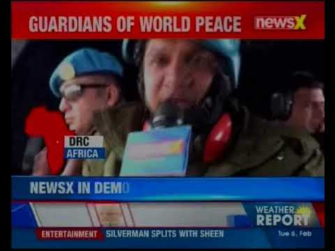 NewsX World Exclusive: Indian soldiers deployed in DRC; NewsX onboard special helicopter of UN