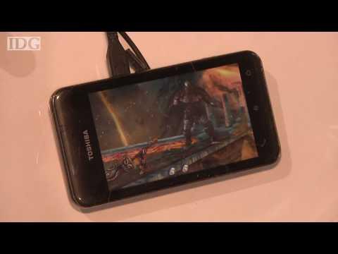 MWC - Toshiba debuts TG02 smartphone