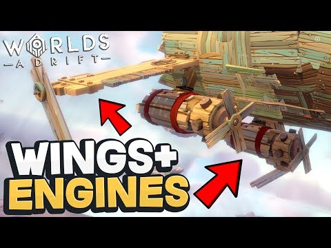 Worlds Adrift - ENGINES & WINGS! Best Airship BY FAR! + New Islands! - Worlds Adrift Beta Gameplay