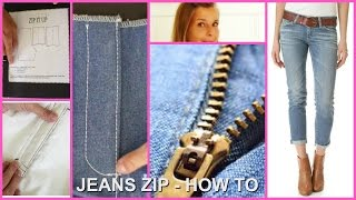How to install a Jeans Zipper | Frocks & Frolics | Sewing Tutorial | Sewing a Zip | DIY